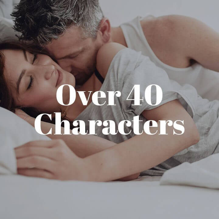 Over 40 Characters Trope