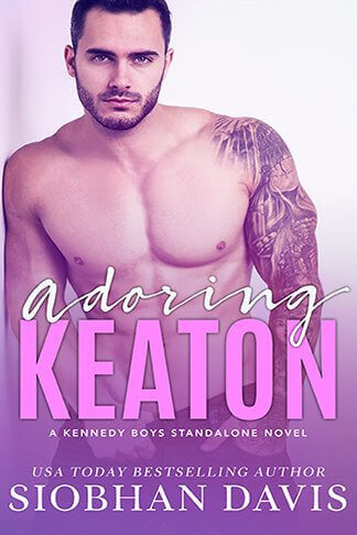 book cover for adoring keaton by author siobhan davis