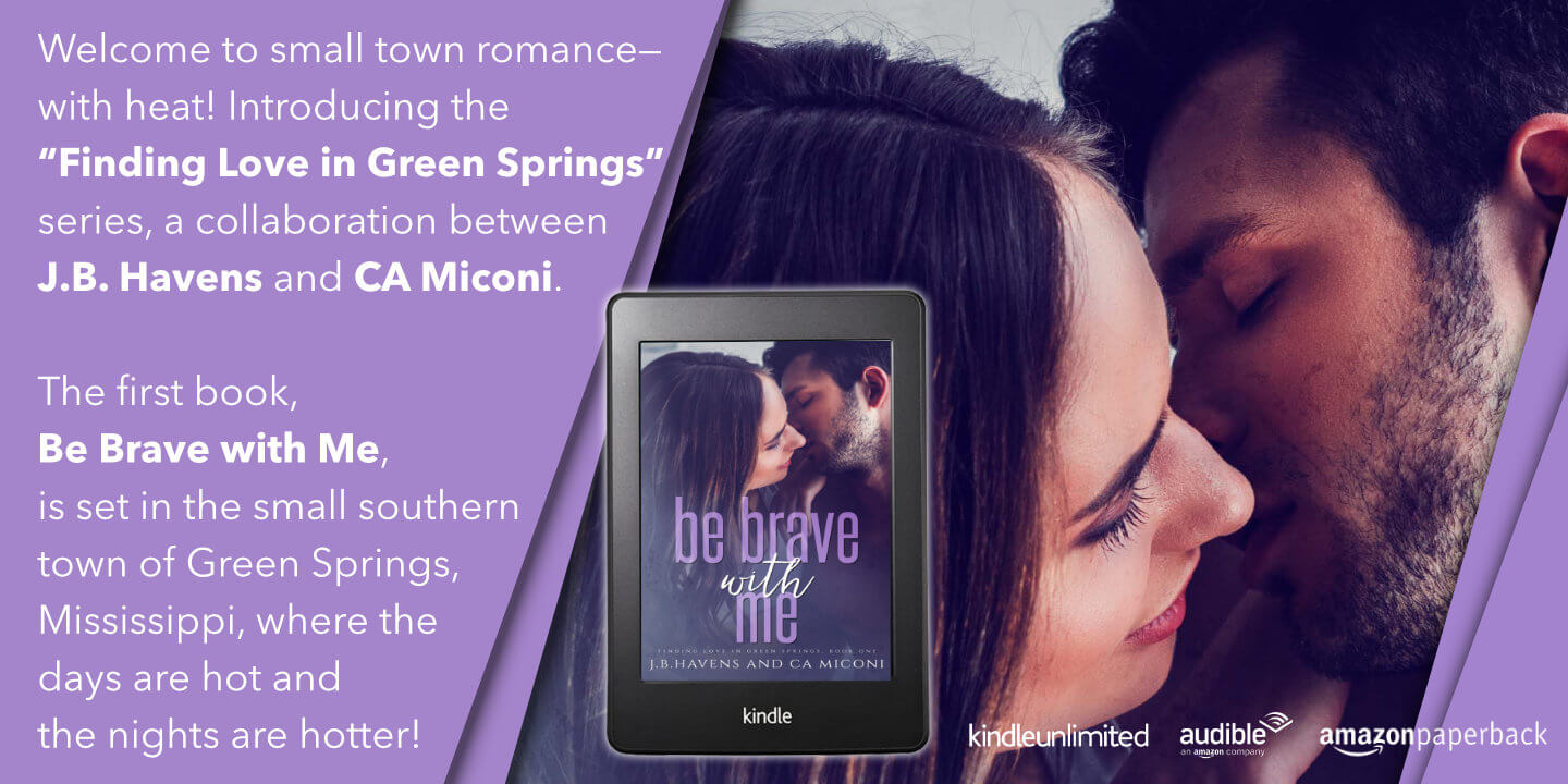 Ad for Be Brave with Me by Author CA Miconi