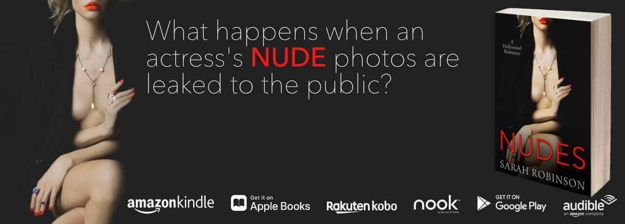 ad for author Sarah Robinson book Nudes