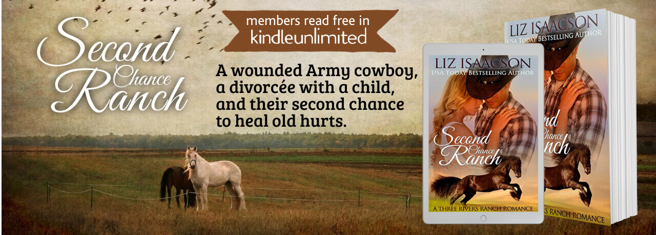 ad for author Liz Isaacson book Second Chance Ranch